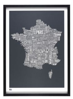 France Typeface Plan France, France Map, France City, Paris France, Art Globe, Provence, Bastille Day, Decorative Screens, Brest