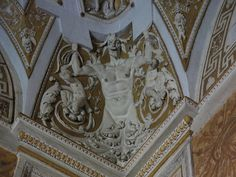 Got a big kick out of this ceiling detail in the Vatican Museum since these used to be the papal apartments.