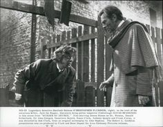 "Press Photo Christopher Plummer And David Hemmings In ""Murder By Decree"""