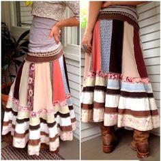 Веселенькая юбка в стиле бохо