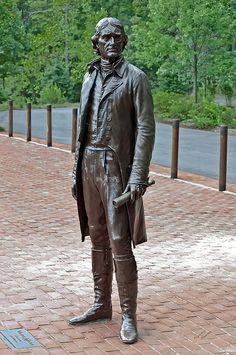 Thomas Jefferson Statue, University of Virginia, Charlottesville, VA