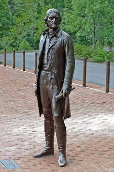 Thomas Jefferson Statue, University of Virginia, Charlottesville, VA