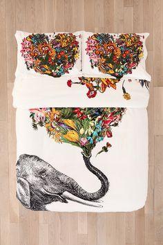RococcoLA Happy Elephant Sham Set
