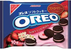 Nabisco Strawberry Oreo Soft Cookies $4.50 http://thingsfromjapan.net/nabisco-strawberry-oreo-soft-cookies/