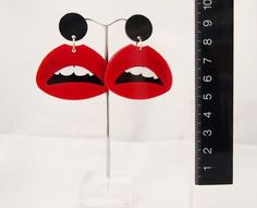 Red Hot Lips Earrings