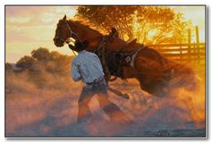 When Horse Whispering Gets Loud by AZ born artist,Tim Cox
