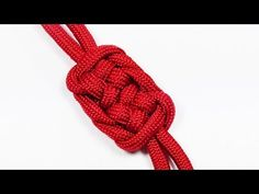 """Paracord Tutorial: The Challenging """"Double Plafond"""" Knot - YouTube"""