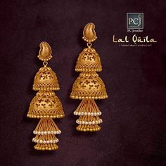 The Best Fabulous gold necklaces Gold Temple Jewellery, 1 Gram Gold Jewellery, Real Gold Jewelry, Gold Wedding Jewelry, India Jewelry, Wedding Earrings, Gold Bangles Design, Gold Earrings Designs, Gold Jewellery Design
