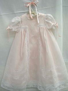 """Ms. Dot, Pink """"Angel"""" Baby Dress from Farmhouse Fabrics, Old Fashioned Baby pattern."""