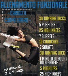 It is a popular truth that we can slim down quicker when we exercise and there are some exercises that can make the procedure even faster. Functional Training, Jumping Jacks, How To Slim Down, Health Fitness, Workout Fitness, Squat, Diet Tips, Stay Fit, How To Lose Weight Fast