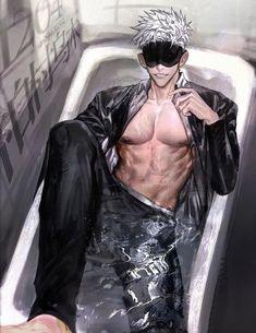 Fanarts Anime, Anime Characters, Manga Anime, Anime Art, Boy With White Hair, Badass Aesthetic, Hot Anime Boy, Handsome Anime Guys, Guy Drawing