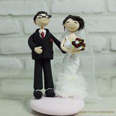 Custom wedding cake topper Gift Keepsake  Cute by annacrafts, $170.00