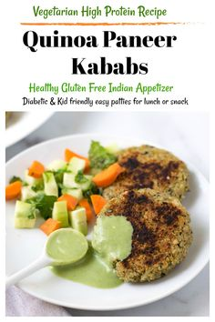 Make these Indian vegetarian Quinoa Paneer patties recipe for snack .Great as burger, inside a wrap or with a salad. These veg cutlets are healthy too. Vegetarian Recipes Dinner, Veg Recipes, Indian Food Recipes, Snack Recipes, Cooking Recipes, Dinner Recipes, Quinoa Burgers, Indian Appetizers, Patties Recipe