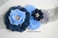 Stunning Chiffon Flower Maternity Sash Belt by HeadbandBlossoms