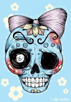 Skull illustrations by Ella Mobbs - Skullspiration.com - skull designs, art, fashion and more