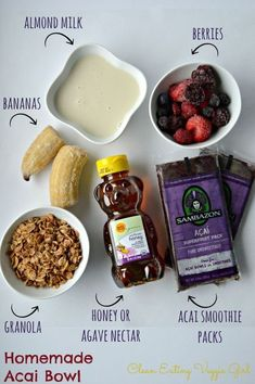 Make this Homemade Acai Bowl recipe for a clean and delicious breakfast!