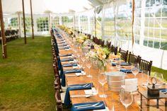 Long barn tables
