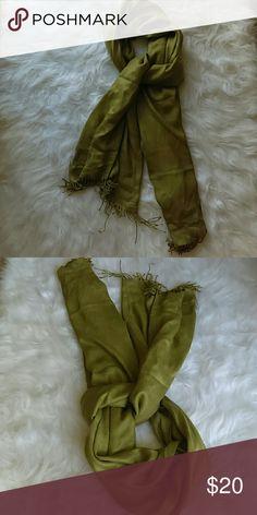 """Regina Schrecker Scarf Olive Green Regina Schrecker Scarf.  100% viscosa. Perfect for Fall/Winter.  75"""" *25"""" Regina  Schrecker Accessories Scarves & Wraps"""