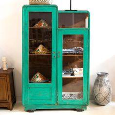 Antique Turquoise Cabinet