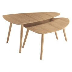 JOYCE Large oak coffee table | Buy now at Habitat UK