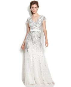 This beautiful beaded wedding dress will be a show stopper and it's under $500