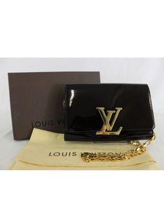 0f919974491b Authentic Louis Vuitton Chain Louise GM Patent Vernis Leather Shoulder Bag  | eBay