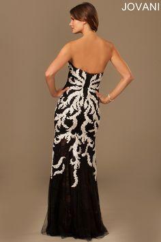 Jovani 98766 Evening Dress Strapless Trumpet Skirt
