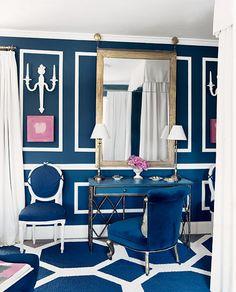 blue room white trim
