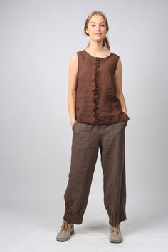 Natural linen blouse / linen tank top / linen t-shirt / Plus Size Linen Clothing