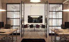 Stalen Design Taatsdeuren in kantoorpand