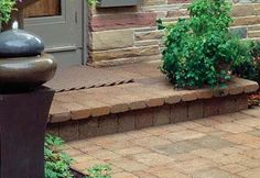 Brick covered stoop