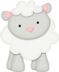 Photo by - Minus Mais Cute Animal Clipart, Cute Clipart, Farm Animal Party, Farm Party, Barbie Em Paris, Cute Lamb, Baby Lamb, Cute Sheep, Farm Birthday