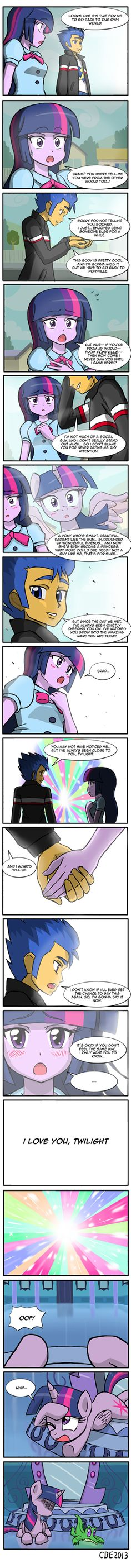 The Ending to Equestria Girls. You have to read it till the end! So funny!