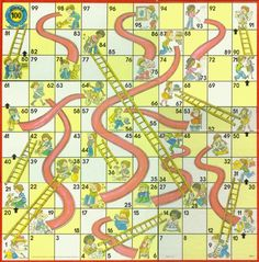 Chutes and Ladders!  I always chose the little black boy.