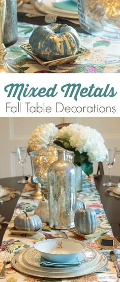 Beautiful mixed metal tablescapes