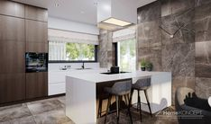 Casa Art Deco, Teak, Kitchen Design, House Plans, House Design, Contemporary, Table, Furniture, Home Decor