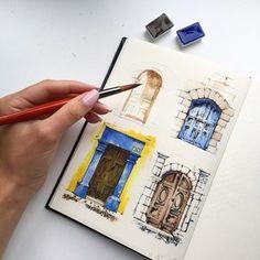 Fabulous Drawing On Creativity Ideas. Captivating Drawing On Creativity Ideas. Landscape Architecture Drawing, Landscape Sketch, Architecture Sketches, Architecture Design, Travel Sketchbook, Travel Drawing, Interior Sketch, Urban Sketching, Drawing Challenge