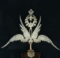 A late 19th century diamond hair ornament/brooch, circa 1890