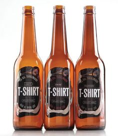 T-shirts are packaged into recycled beer bottles, the most popular drink in underground culture. The bottles are smashed to get the t-shirt out according to an underground practice of fighting with bottles and using them like a self-defence device.    Like different beer types and music styles, shirts are divided into three types  soft, classic and dark. The illustration can be turned both up and down to look properly and symbolize an eternal circle.