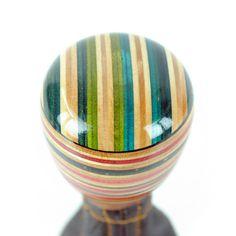 Multicolour Teardrop Shift Knob With Green Top
