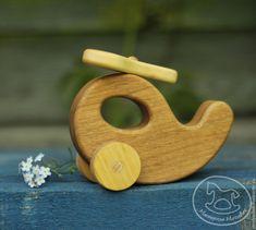 Купить Вертолёт, деревянная развивающая игрушка. - деревянная игрушка, игрушка из дерева, вертолет, вертолетик, техника