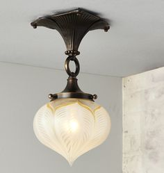 Rejuvenation Arts and Crafts: Wildwood Arts & Crafts Semi-Flush Fixture