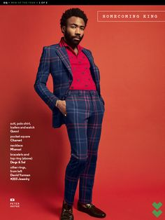 What makes Donald Glover's new show so good? Clean Cut Men, Men's Style Icons, 90s Fashion, Fashion 2020, Donald Glover, Childish Gambino, Renaissance Men, Men Formal, Celebs