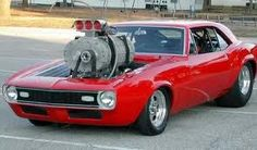 '68 camaro with a Train supercharger!