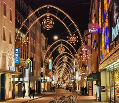 Christmas Traditions: the longest street of Christmas lights in Europe is the Freie Strasse, in Basel, Switzerland.