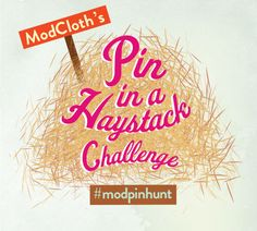 Play Our Pin in a Haystack Challenge onPinterest!
