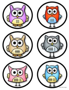 """Owl"" About Numbers 1-10 Cards (Dots, Numerals & Tally Marks.) For Games and More...$"