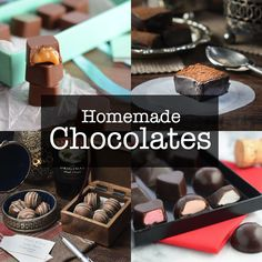 All the homemade chocolate recipes from Charlotte's Lively Kitchen. Including Bailey's truffles, caramel filled chocolates and even Easter eggs!