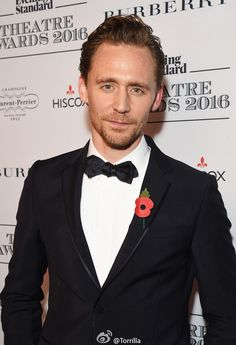 Tom HIddleston @ The 62nd London Evening Standard Theatre Awards at The Old Vic Theatre 13.11.2016 in London from http://tw.weibo.com/torilla/4041614630440566