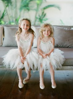 tulle and sparkle flower girl dresses | Photography: Greg Finck